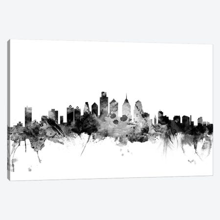 Philadelphia, Pennsylvania In Black & White Canvas Print #MTO879} by Michael Tompsett Canvas Artwork