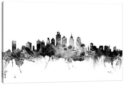 Philadelphia, Pennsylvania In Black & White Canvas Art Print