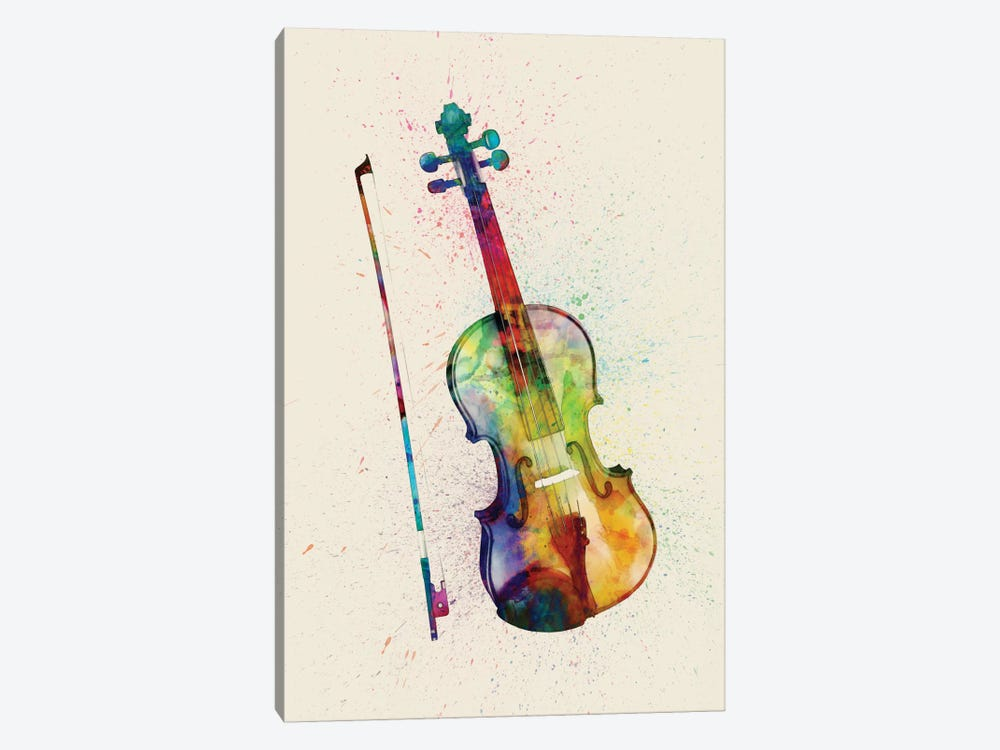 Musical Instrument Series: Violin by Michael Tompsett 1-piece Canvas Art