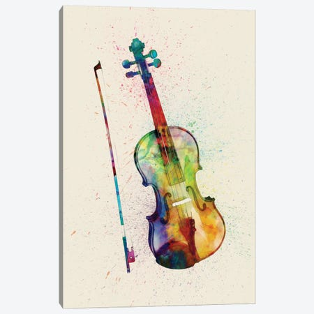Violin Canvas Print #MTO87} by Michael Tompsett Canvas Artwork