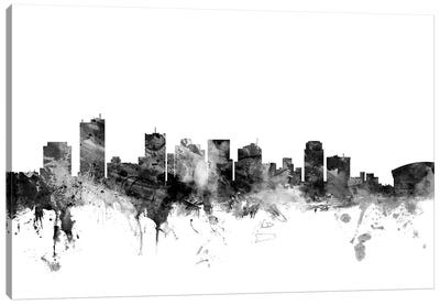 Phoenix, Arizona In Black & White Canvas Art Print