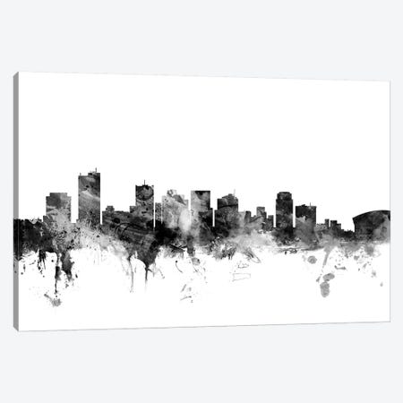 Phoenix, Arizona In Black & White Canvas Print #MTO880} by Michael Tompsett Canvas Print