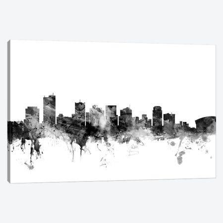 Phoenix, Arizona In Black & White Canvas Print #MTO880} by Michael Tompsett Canvas Print