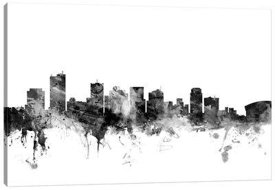 Phoenix, Arizona In Black & White Canvas Art Print