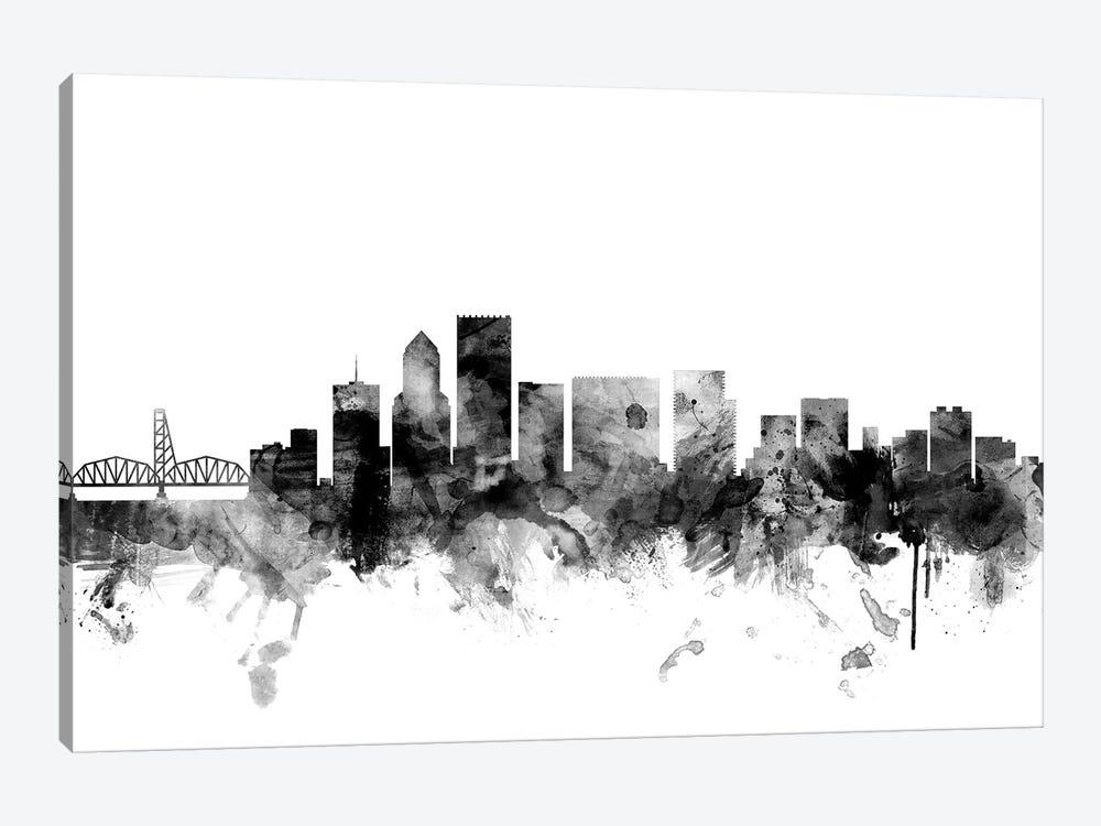Portland, Oregon In Black & White by Michael Tompsett 1-piece Canvas Art