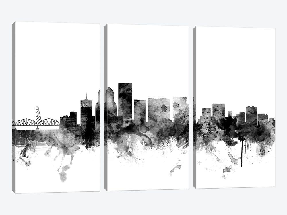 Portland, Oregon In Black & White by Michael Tompsett 3-piece Canvas Artwork