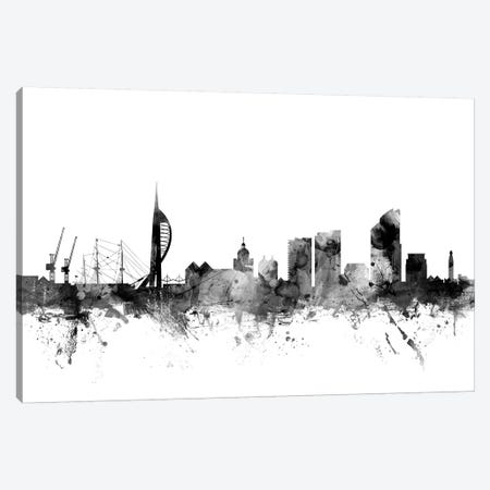 Portsmouth, England In Black & White Canvas Print #MTO883} by Michael Tompsett Canvas Print