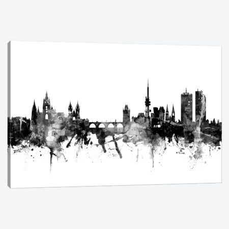 Prague, Czech Republic In Black & White Canvas Print #MTO884} by Michael Tompsett Canvas Artwork