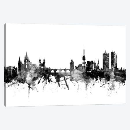 Prague, Czech Republic In Black & White Canvas Print #MTO884} by Michael Tompsett Canvas Artwork