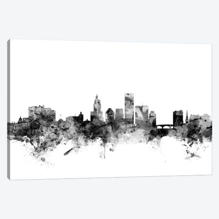 Providence, Rhode Island In Black & White Canvas Print #MTO886} by Michael Tompsett Canvas Art