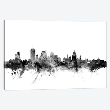 Quebec, Canada In Black & White Canvas Print #MTO887} by Michael Tompsett Canvas Art