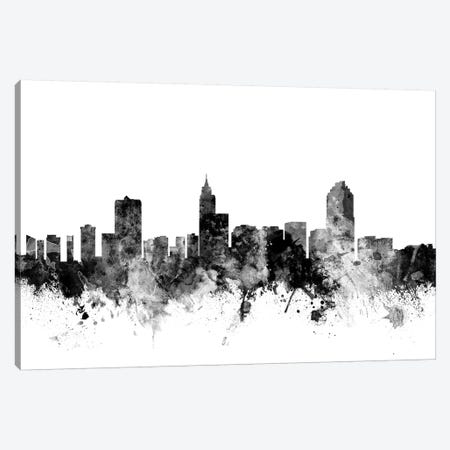Raleigh, North Carolina In Black & White Canvas Print #MTO888} by Michael Tompsett Canvas Art Print