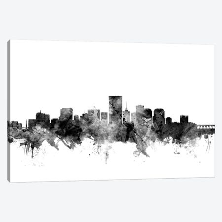 Richmond, Virginia In Black & White Canvas Print #MTO889} by Michael Tompsett Art Print