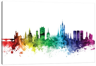 Rainbow Skyline Series: Aberdeen, Scotland, United Kingdom Canvas Art Print