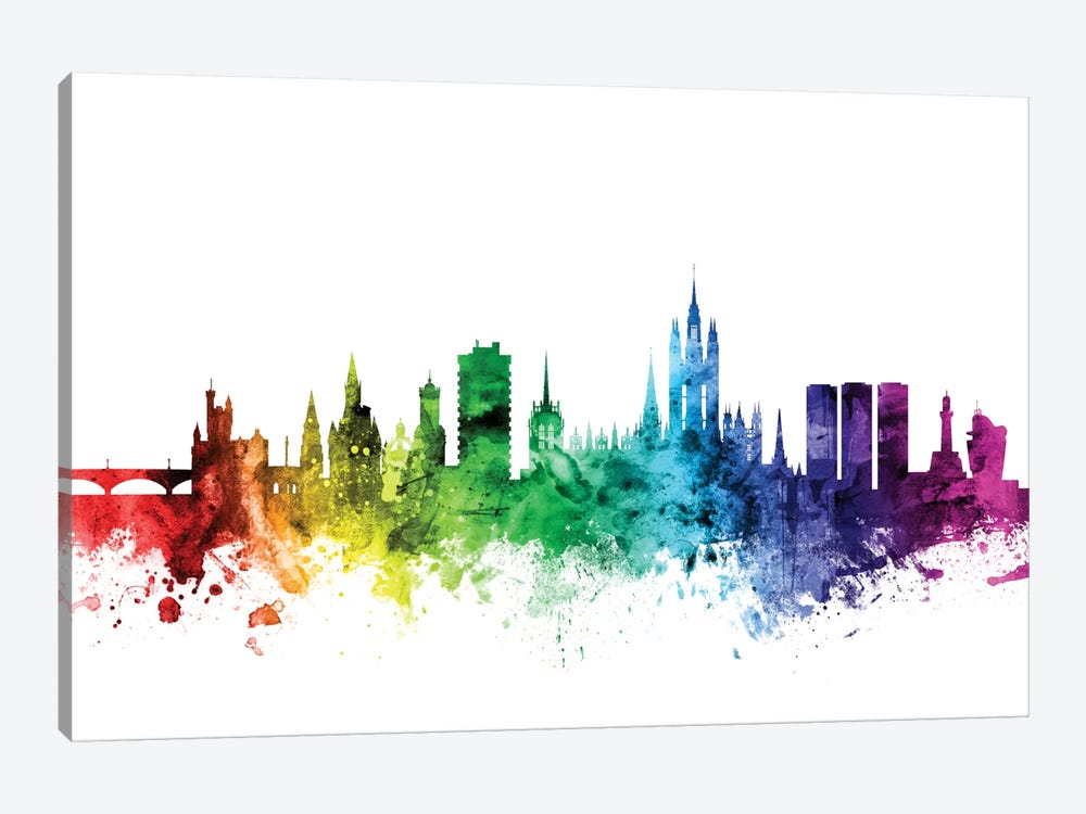 Rainbow Skyline Series: Aberdeen, Scotland, United Kingdom by Michael Tompsett 1-piece Art Print