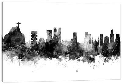 Rio de Janeiro,  Brazil In Black & White Canvas Art Print