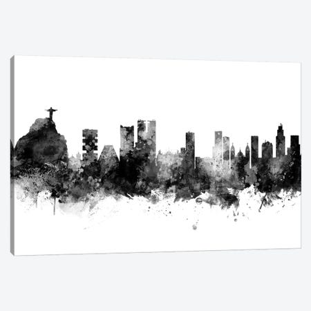 Rio de Janeiro,  Brazil In Black & White Canvas Print #MTO890} by Michael Tompsett Canvas Art