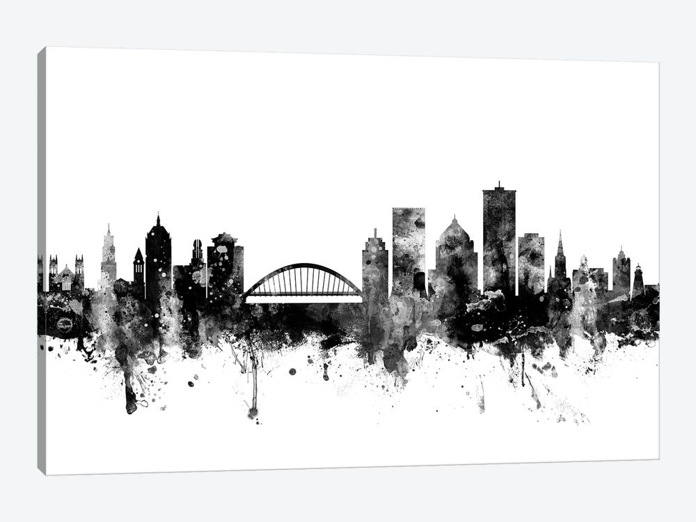 Rochester, New York In Black & White by Michael Tompsett 1-piece Canvas Wall Art
