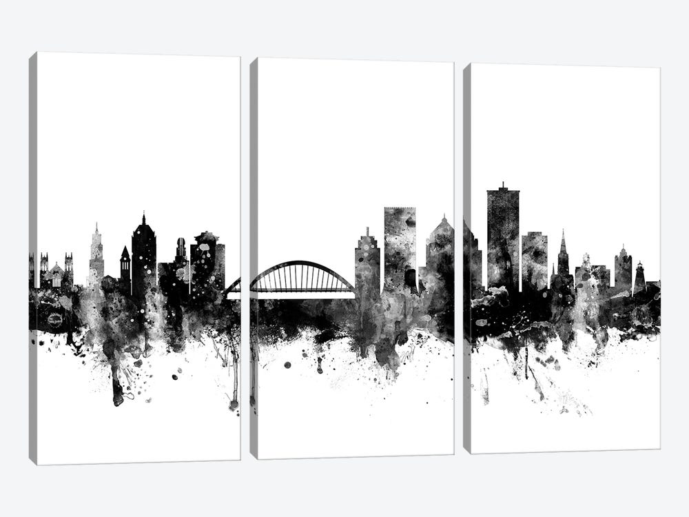 Rochester, New York In Black & White by Michael Tompsett 3-piece Canvas Wall Art