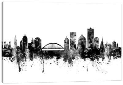 Rochester, New York In Black & White Canvas Art Print