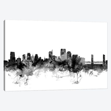 Sacramento, California In Black & White Canvas Print #MTO894} by Michael Tompsett Canvas Art Print
