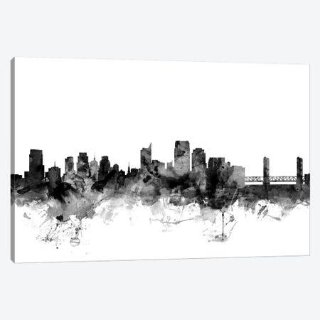 Sacramento, California In Black & White Canvas Print #MTO894} by Michael Tompsett Canvas Art Print
