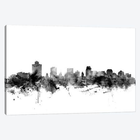 Salt Lake City, Utah In Black & White Canvas Print #MTO895} by Michael Tompsett Canvas Art Print