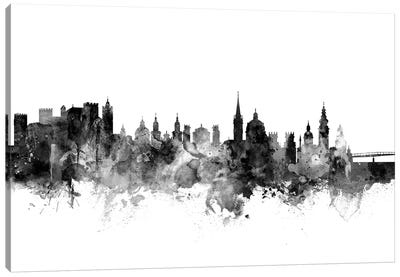 Salzburg, Austria In Black & White Canvas Art Print