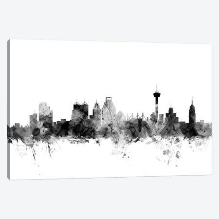 San Antonio, Texas In Black & White Canvas Print #MTO897} by Michael Tompsett Canvas Print
