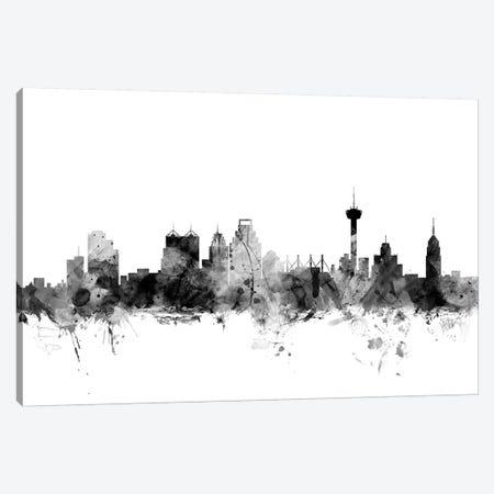 San Antonio, Texas In Black & White Canvas Print #MTO897} by Michael Tompsett Canvas Print