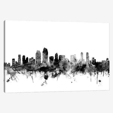 San Diego, California In Black & White Canvas Print #MTO898} by Michael Tompsett Canvas Art