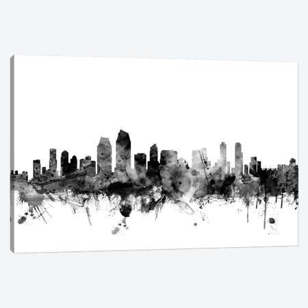 San Diego, California In Black & White Canvas Print #MTO898} by Michael Tompsett Canvas Art