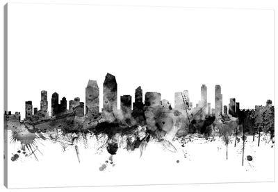 San Diego, California In Black & White Canvas Art Print