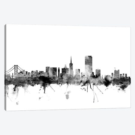 San Francisco, California In Black & White Canvas Print #MTO899} by Michael Tompsett Canvas Art