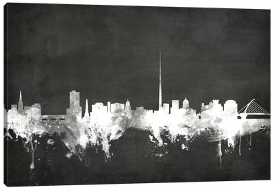 Blackboard Skyline Series: Dublin, Republic Of Ireland Canvas Print #MTO8