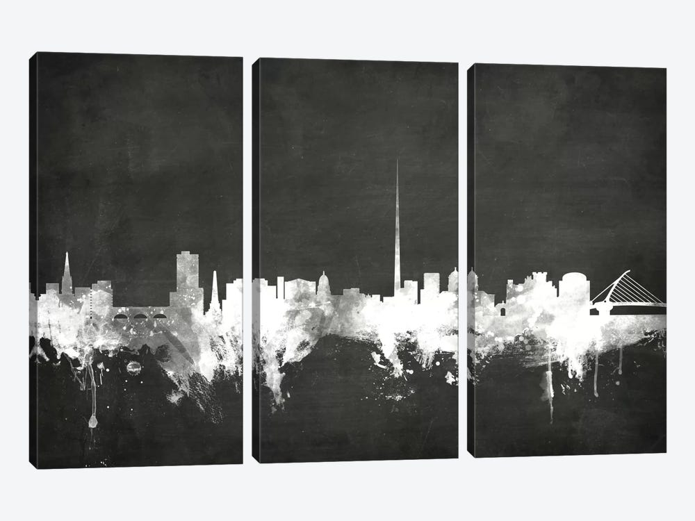 Dublin, Republic Of Ireland by Michael Tompsett 3-piece Canvas Print