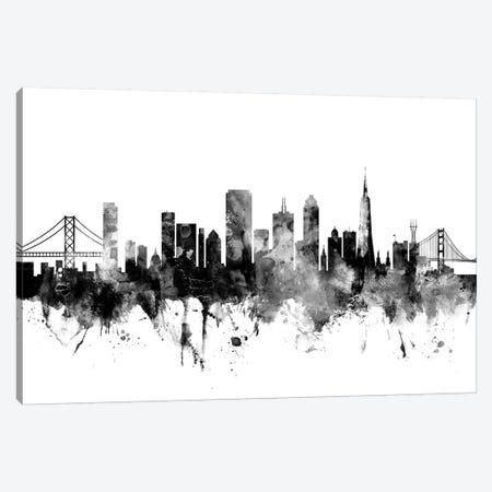San Francisco, California In Black & White Canvas Print #MTO900} by Michael Tompsett Canvas Art