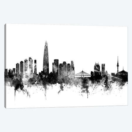 Seoul,  South Korea In Black & White Canvas Print #MTO904} by Michael Tompsett Canvas Print