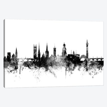 Shrewsbury, England In Black & White Canvas Print #MTO907} by Michael Tompsett Art Print