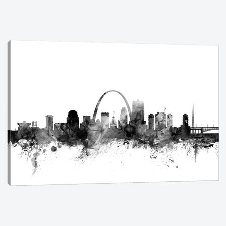 St Louis, Missouri In Black & White Canvas Print #MTO910} by Michael Tompsett Canvas Print