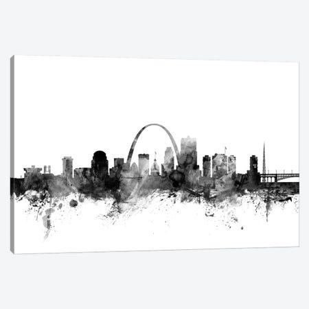 St. Louis, Missouri In Black & White Canvas Print #MTO910} by Michael Tompsett Canvas Print