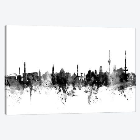 Stuttgart, Germany In Black & White Canvas Print #MTO912} by Michael Tompsett Art Print