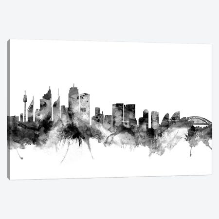 Sydney, Australia In Black & White Canvas Print #MTO913} by Michael Tompsett Art Print