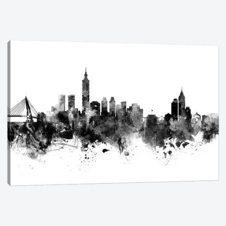 Taipei, Taiwan In Black & White Canvas Print #MTO914} by Michael Tompsett Canvas Art