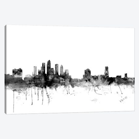 Tampa, Florida In Black & White Canvas Print #MTO915} by Michael Tompsett Canvas Wall Art