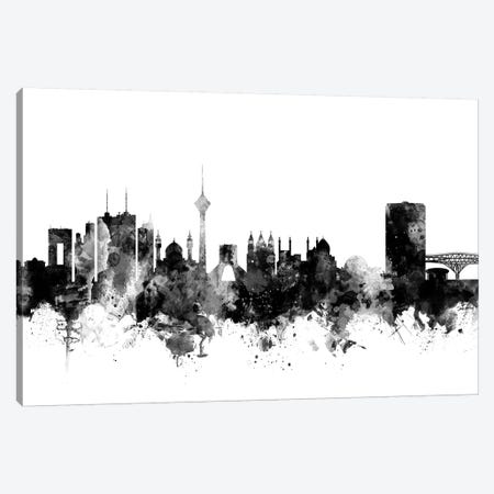 Tehran, Iran In Black & White Canvas Print #MTO916} by Michael Tompsett Canvas Artwork