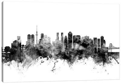 Tokyo, Japan In Black & White Canvas Art Print