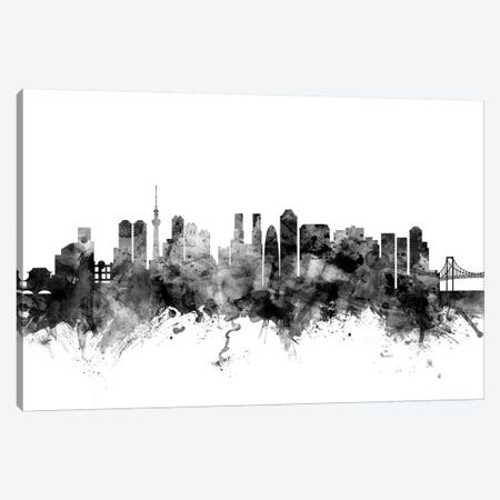 Tokyo, Japan In Black & White Canvas Print #MTO918} by Michael Tompsett Art Print