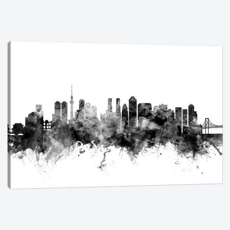 Tokyo, Japan In Black & White Canvas Print #MTO918} by Michael Tompsett Art Print