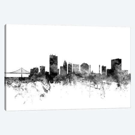 Toledo, Ohio In Black & White Canvas Print #MTO919} by Michael Tompsett Art Print